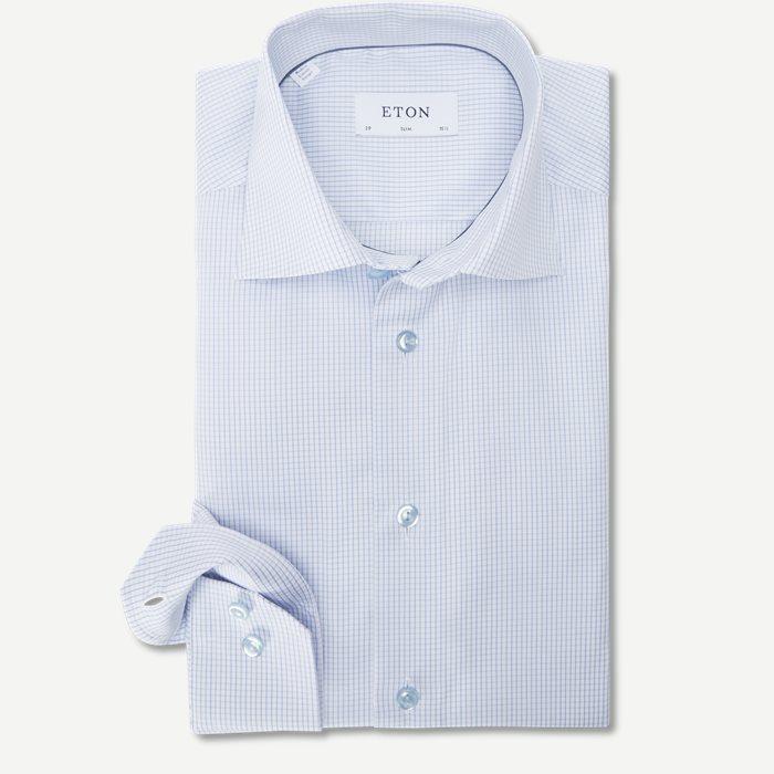 3070 Signature Twill Skjorte - Skjorter - Blå